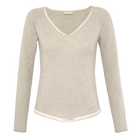 Soft 100% Italian Cashmere Lounge V-Neck Sweater